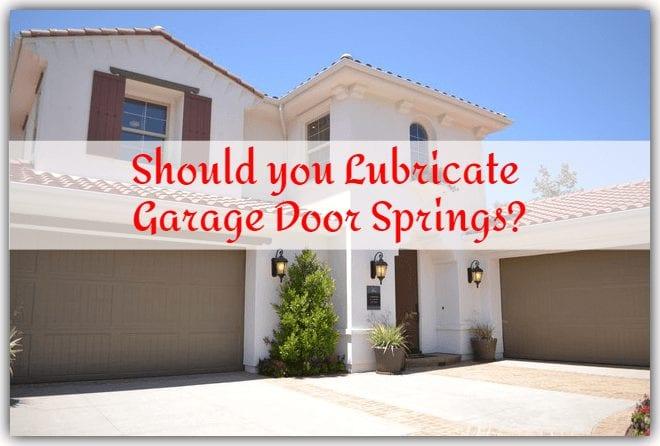 lubrication garage door